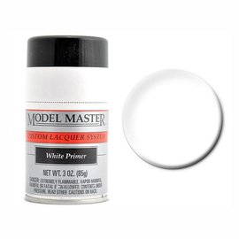 Testors White Lacquer Primer, 3oz Spray
