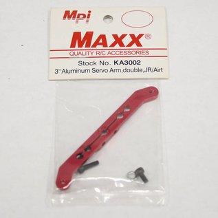 "Aluminum Double Servo Arm 3"" JR/Airtronics"
