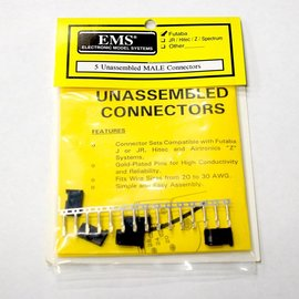 EMS Unassembled Male Servo Connectors Futaba  J (5)