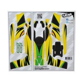 Blade 350 QX Skin Jinx: Green/Yellow UPG7103