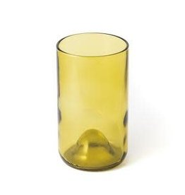 Wine Bottle Glass Olive 16oz