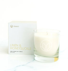 Musee Linen & Honeysuckle Soy Candle