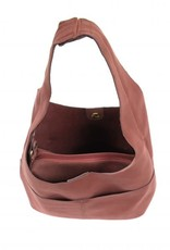 Joy Susan Jenny Sueded Hobo Bag-Brick