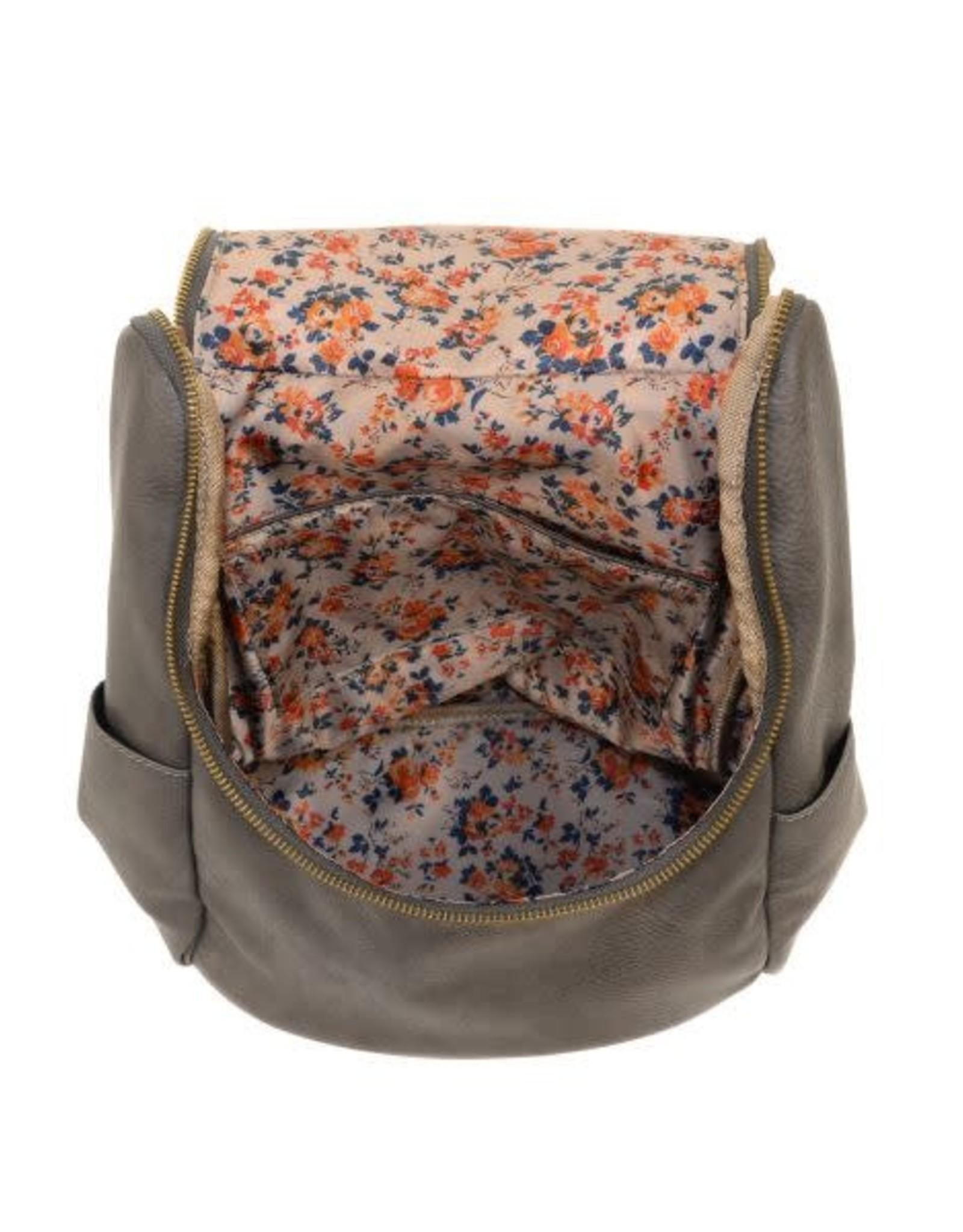 Joy Susan Kerri Side Pocket Backpack-Charcoal