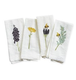 June & December Honey Bee Garden Napkins: Set 4