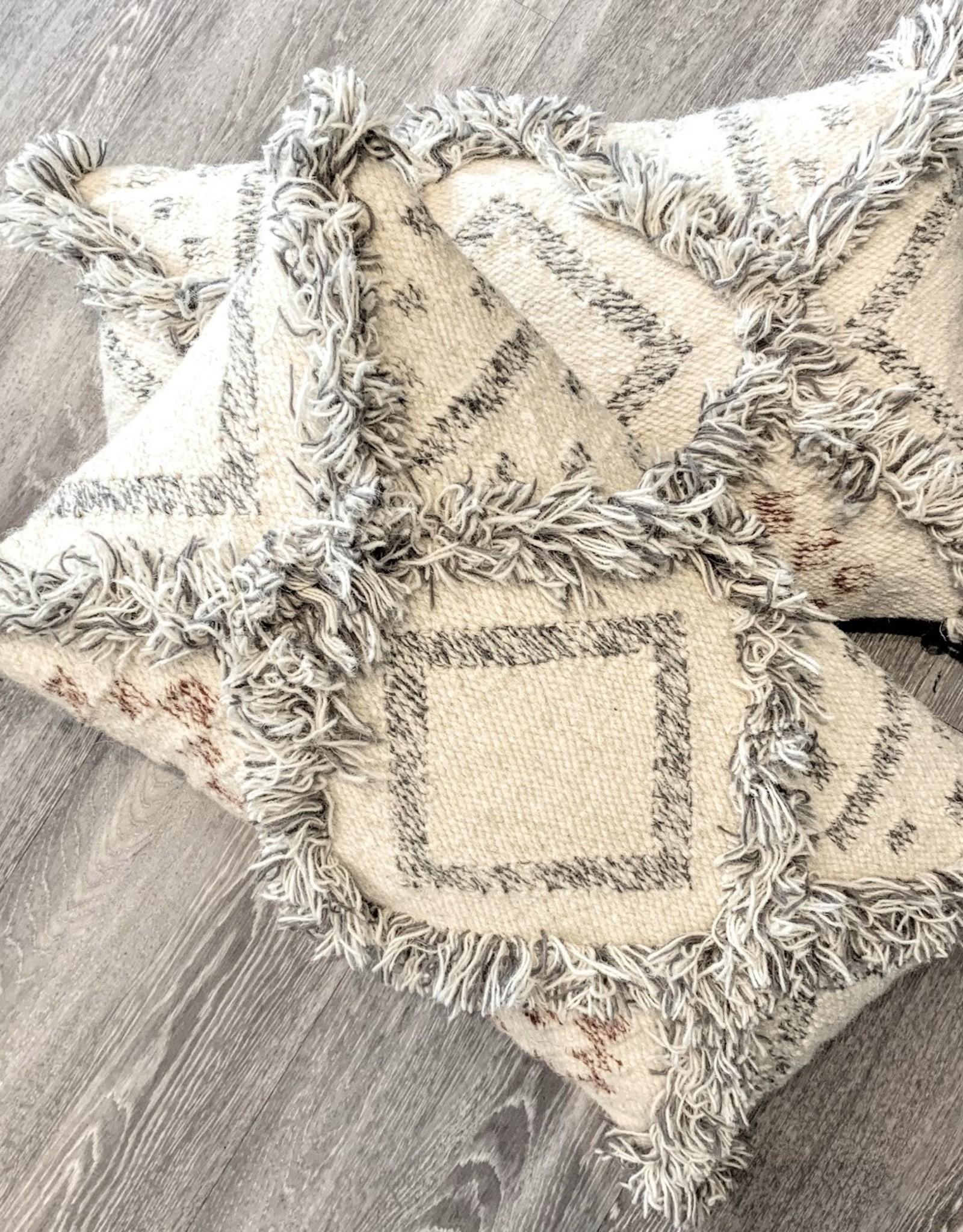 Wool Fringe Kilim Pillow