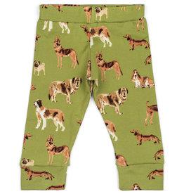 Milkbarn Green Dog Leggings- 6-12M