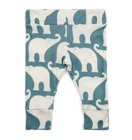 Milkbarn Blue Elephant Leggings 6-12M