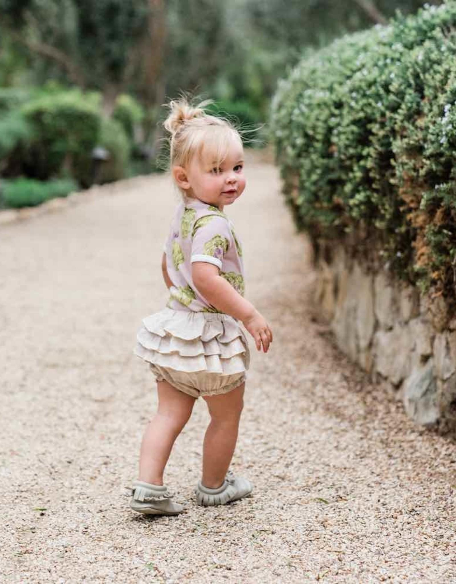 Milkbarn Ruffle Bloomer Denim 3-6M