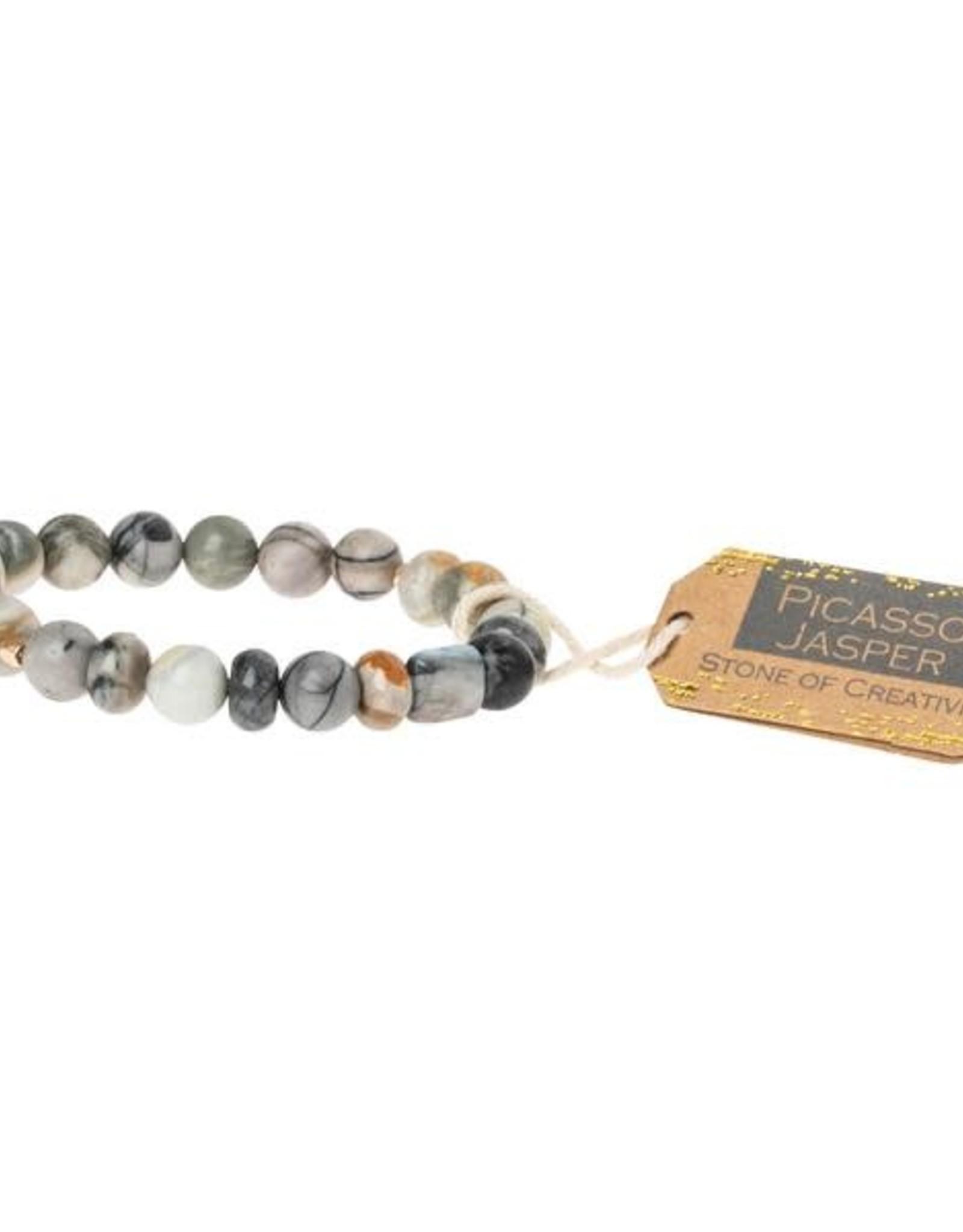 Scout Stone Bracelet - Picasso Jasper