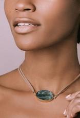 Scout Suede and Stone Bracelet-Rose Quartz/Silver