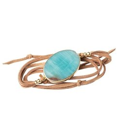 Scout Suede & Stone Bracelet-Amazonite