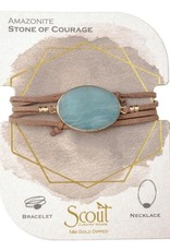 Scout Suede & Stone Bracelet-Amazonite