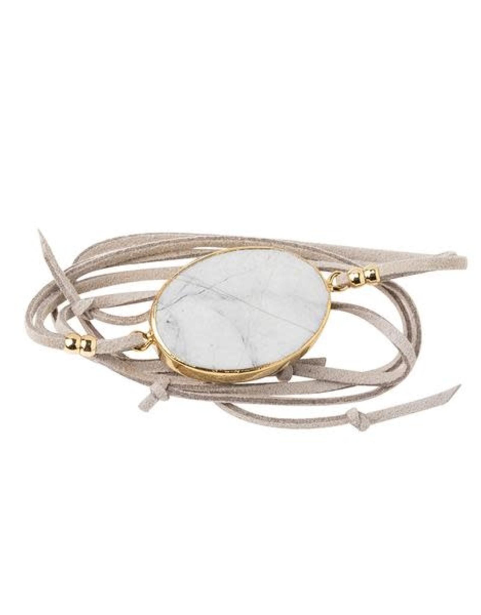 Scout Suede & Stone Bracelet-Howlite