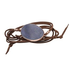 Scout Suede and Stone Bracelet- Lapis