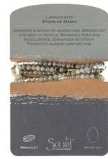Scout Stone Wrap Labradorite/Gold