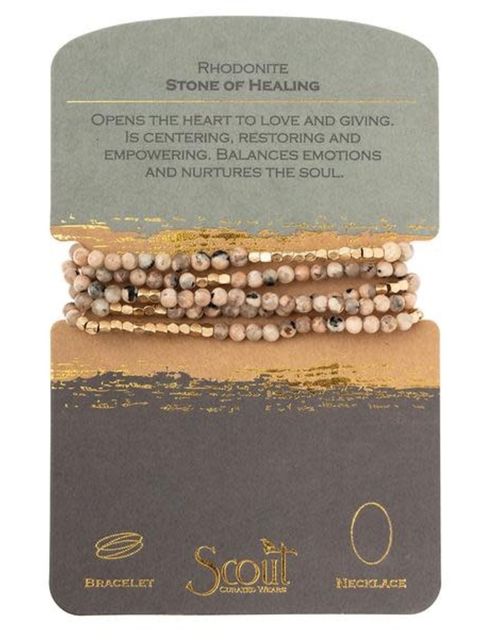 Scout Stone Wrap-Rhodonite