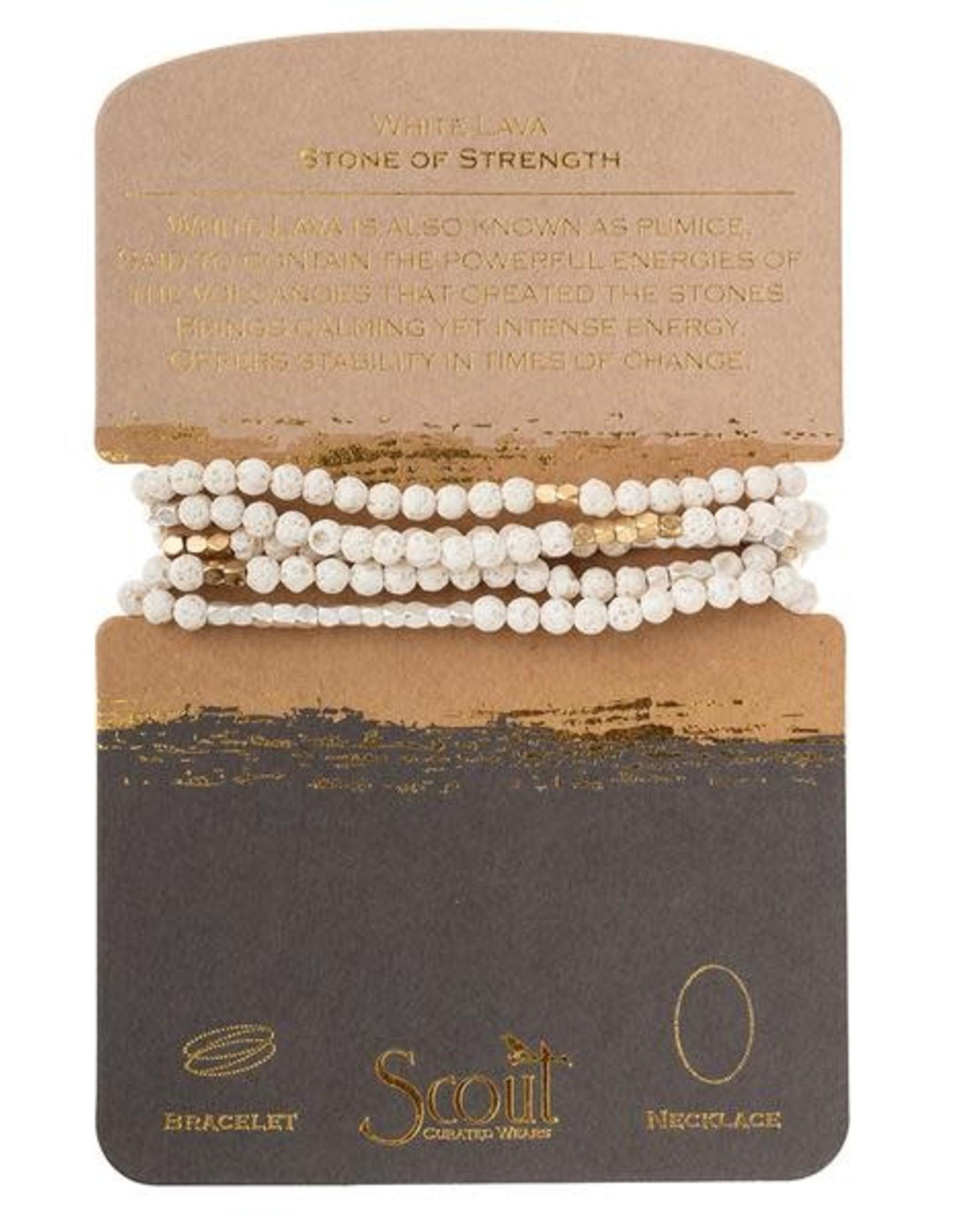 Scout Stone Wrap-White Lava