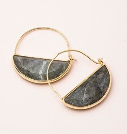 Scout Stone Prism Hoop- Laboradorite