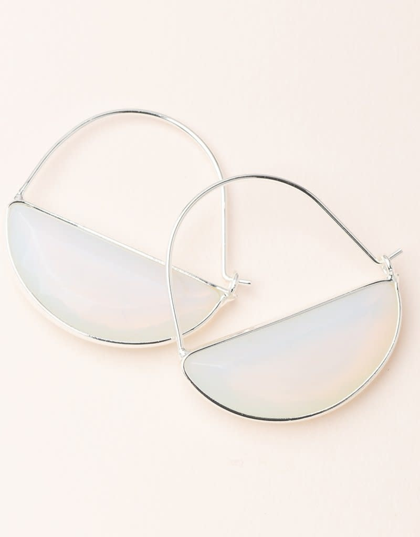 Scout Stone Prism Hoop-Opalite/ Silver