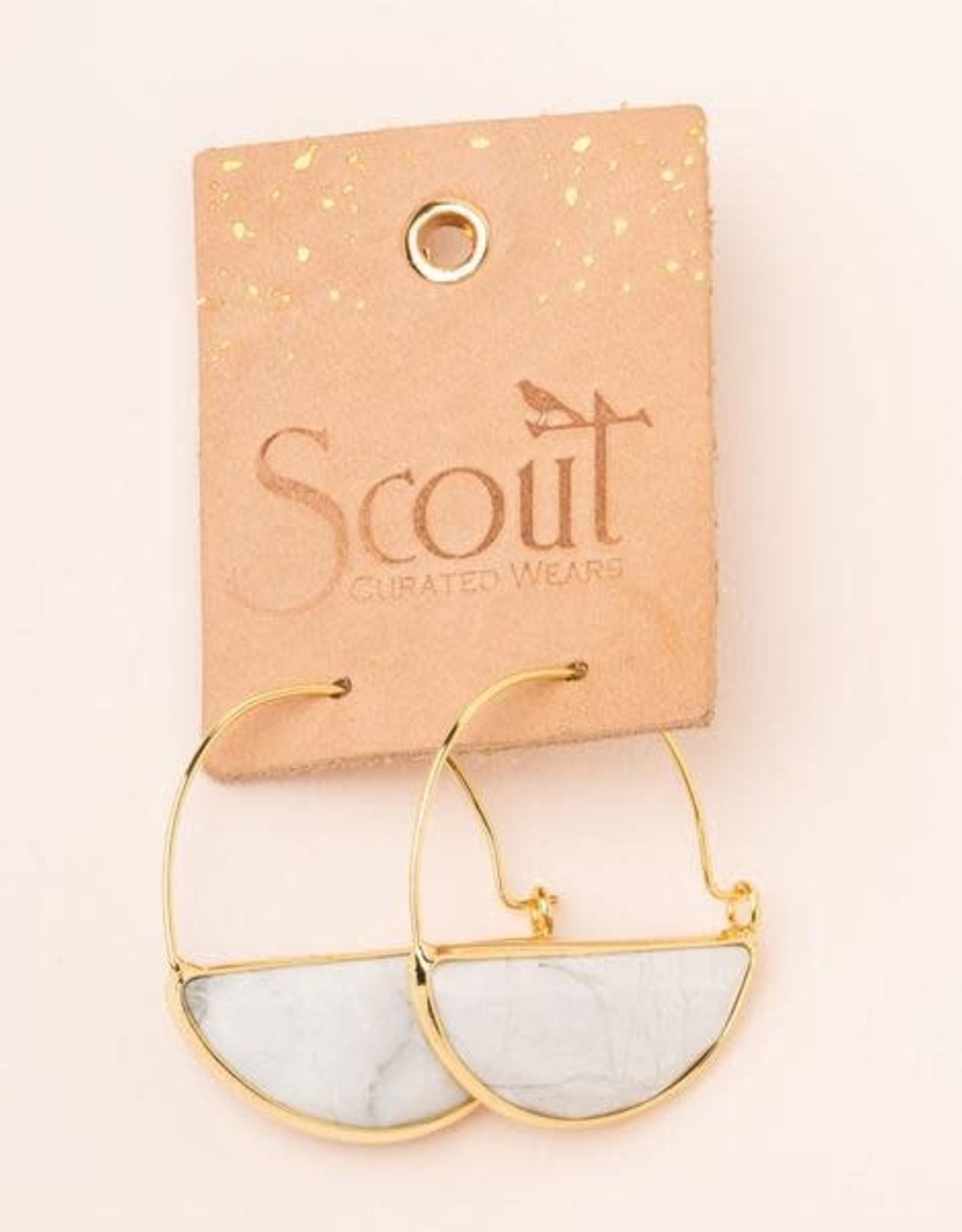 Scout Stone Prism Hoop- Howlite