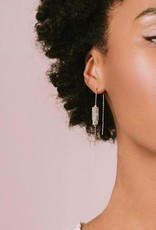 Scout Rect. Stone Earring-Howlite