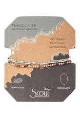 Scout Delicate Stone Rhodonite/Gold