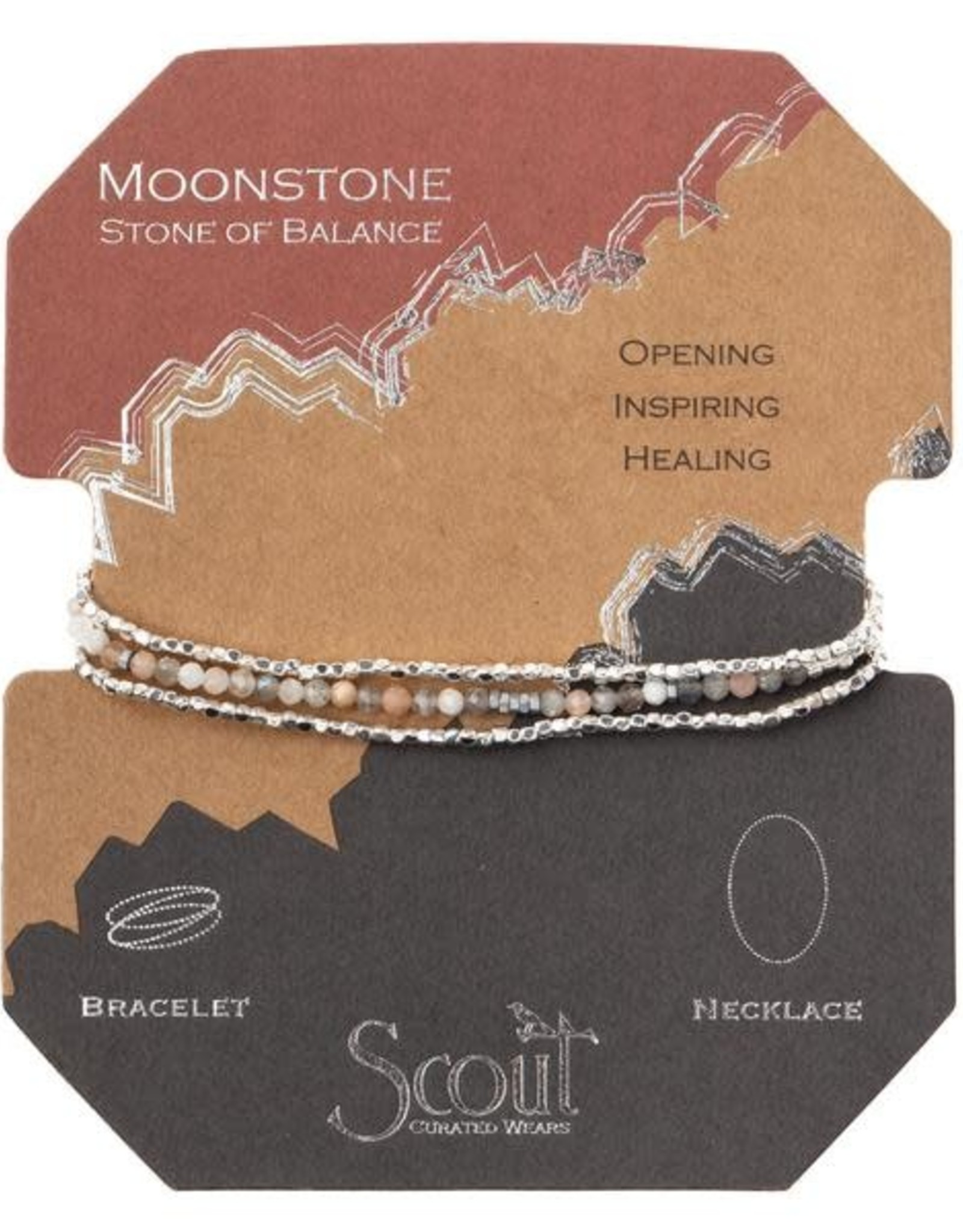 Scout Delicate Stone Moonstone/Silver