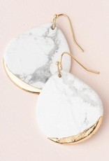 Scout Stone Dipped Earring-Howlite