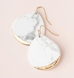 Scout Gold Dipped Earring- Howlite