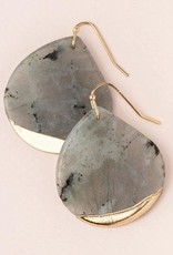 Scout Stone Dipped Earring- Labradorite