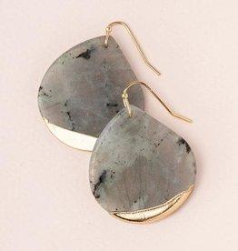 Scout Stone Dipped Earring- Labradorite