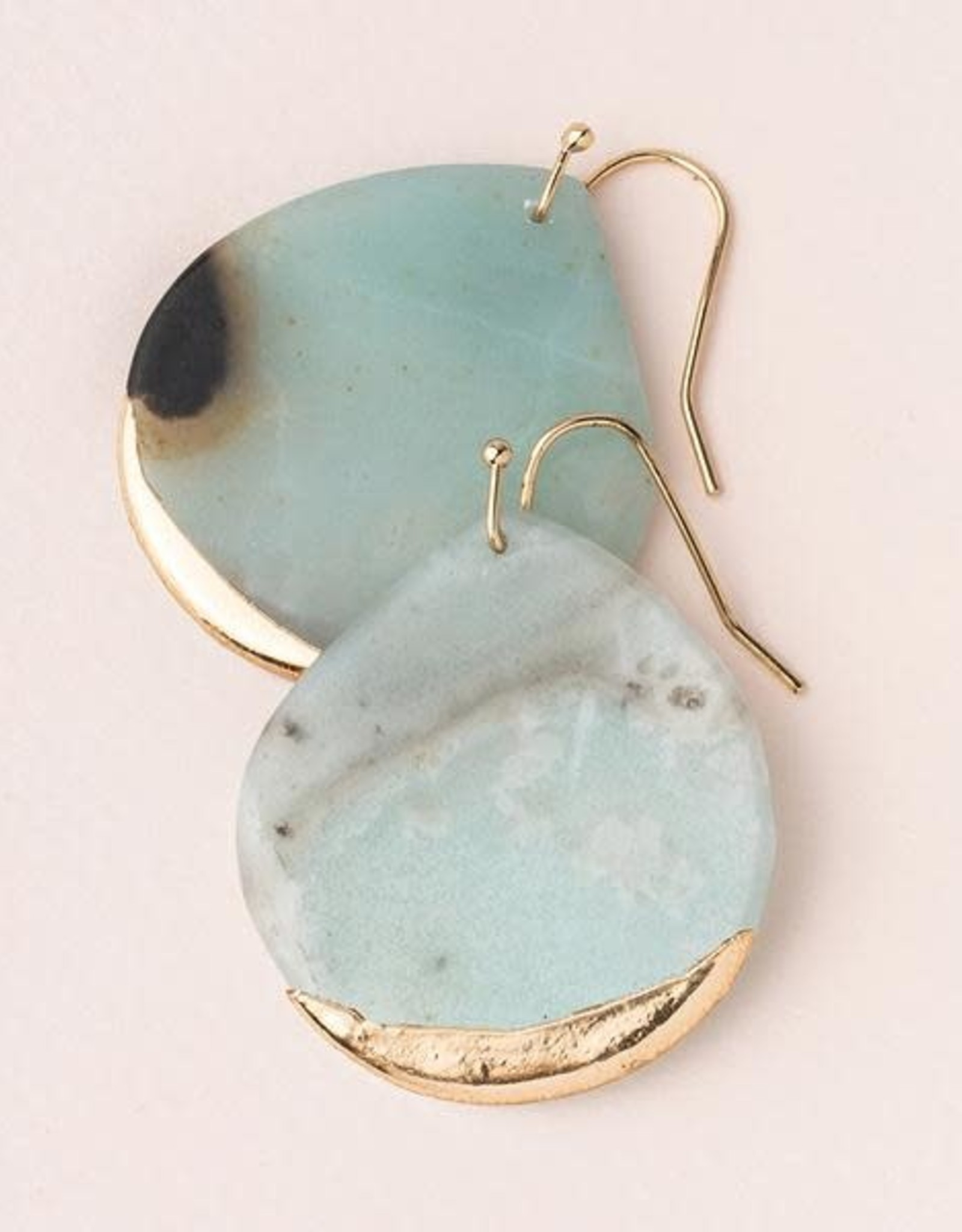 Scout Stone Dipped Earring-Amazonite