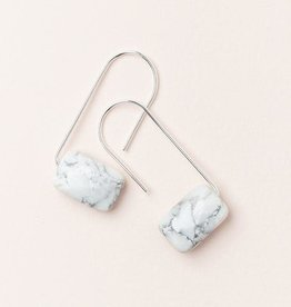 Scout Floating Stone Earring- Howlite