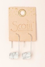 Scout Floating Stone Earring-Howlite