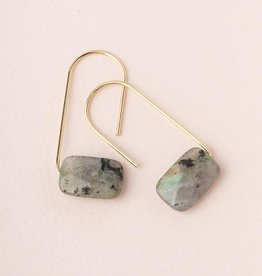 Scout Floating Stone Earring- Labradorite
