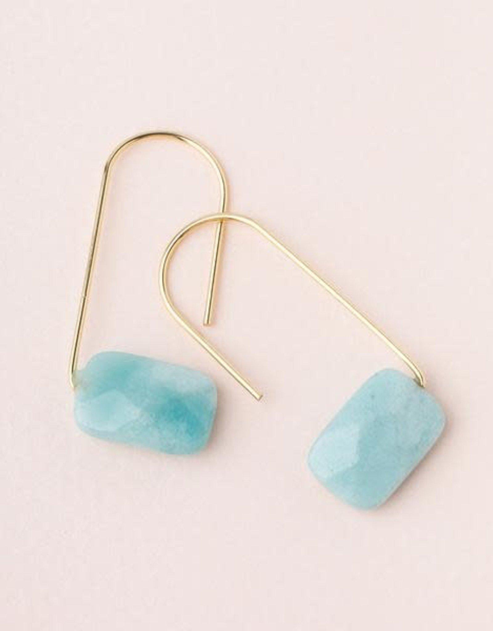 Scout Floating Stone Earring-Amazonite
