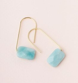 Scout Floating Stone Earring-Amazonite