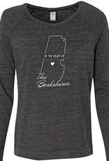 Emulsion Printhouse Heart of the Berkshires- Long Sleeve - Eco Black
