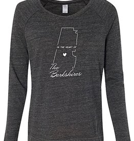 Emulsion Printhouse Heart of the Berkshires- Long Sleeve - Eco Black