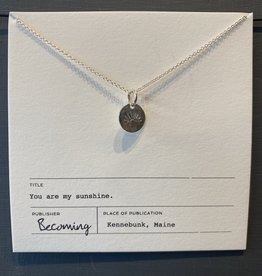 Becoming My Sunshine Necklace-SS