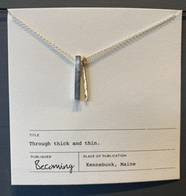 Becoming Thick and Thin Necklace