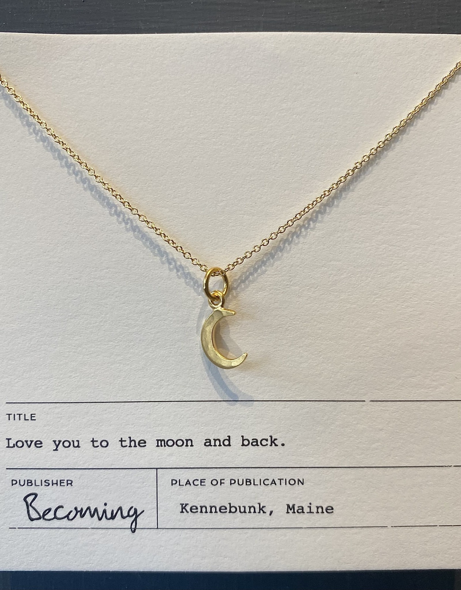Becoming Love You to the Moon Necklace-GF