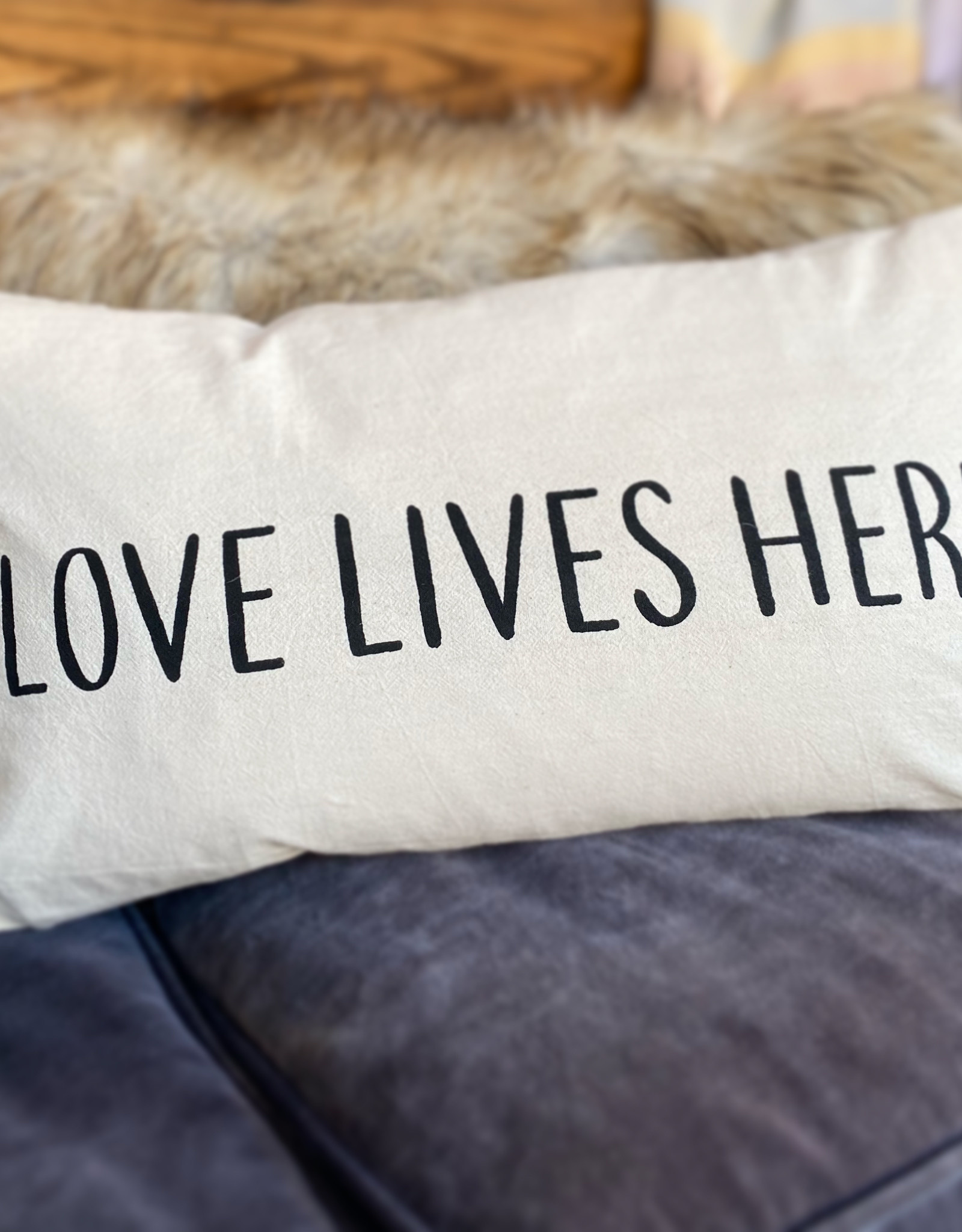 Indaba Love Lives Here Pillow