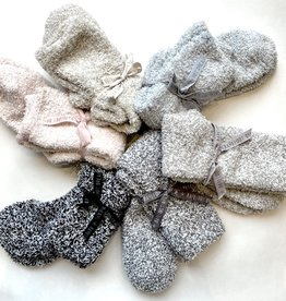 Barefoot Dreams Cozy Chic Women's Socks - Oyster/White