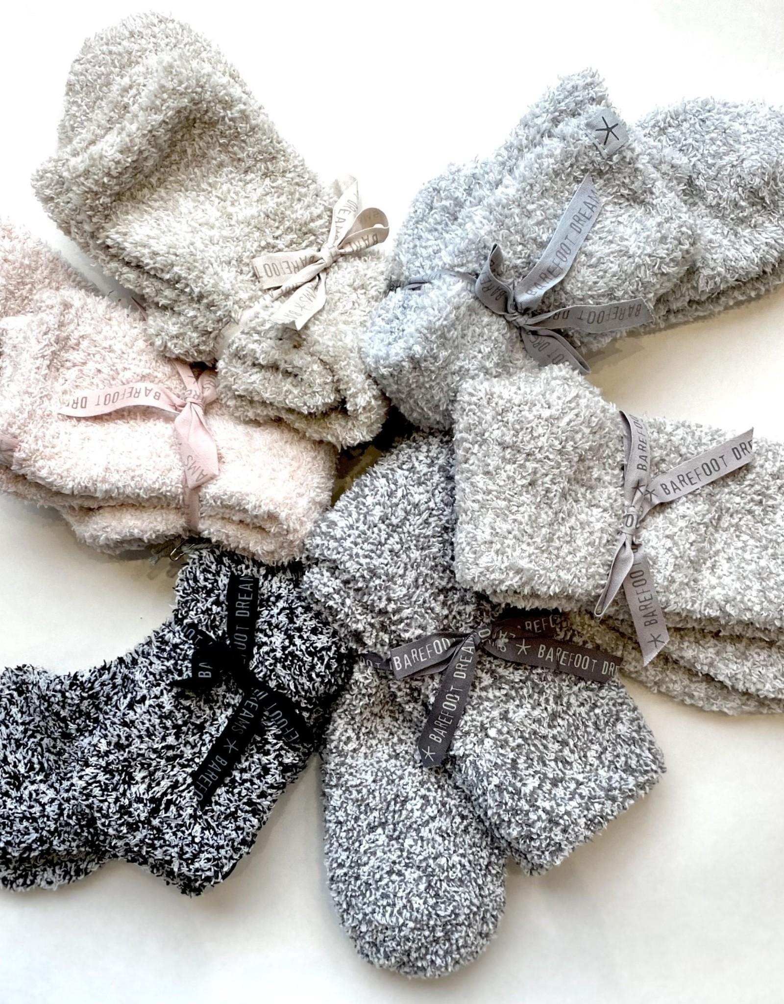 Barefoot Dreams Cozy Chic Women's Socks-Graphite/White
