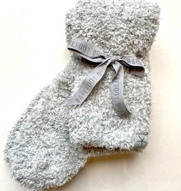 Barefoot Dreams Cozy Chic Womens Socks - BlueWater/ White