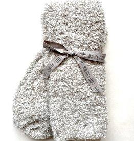 Barefoot Dreams Cozy Chic Women's Socks- Stone/White