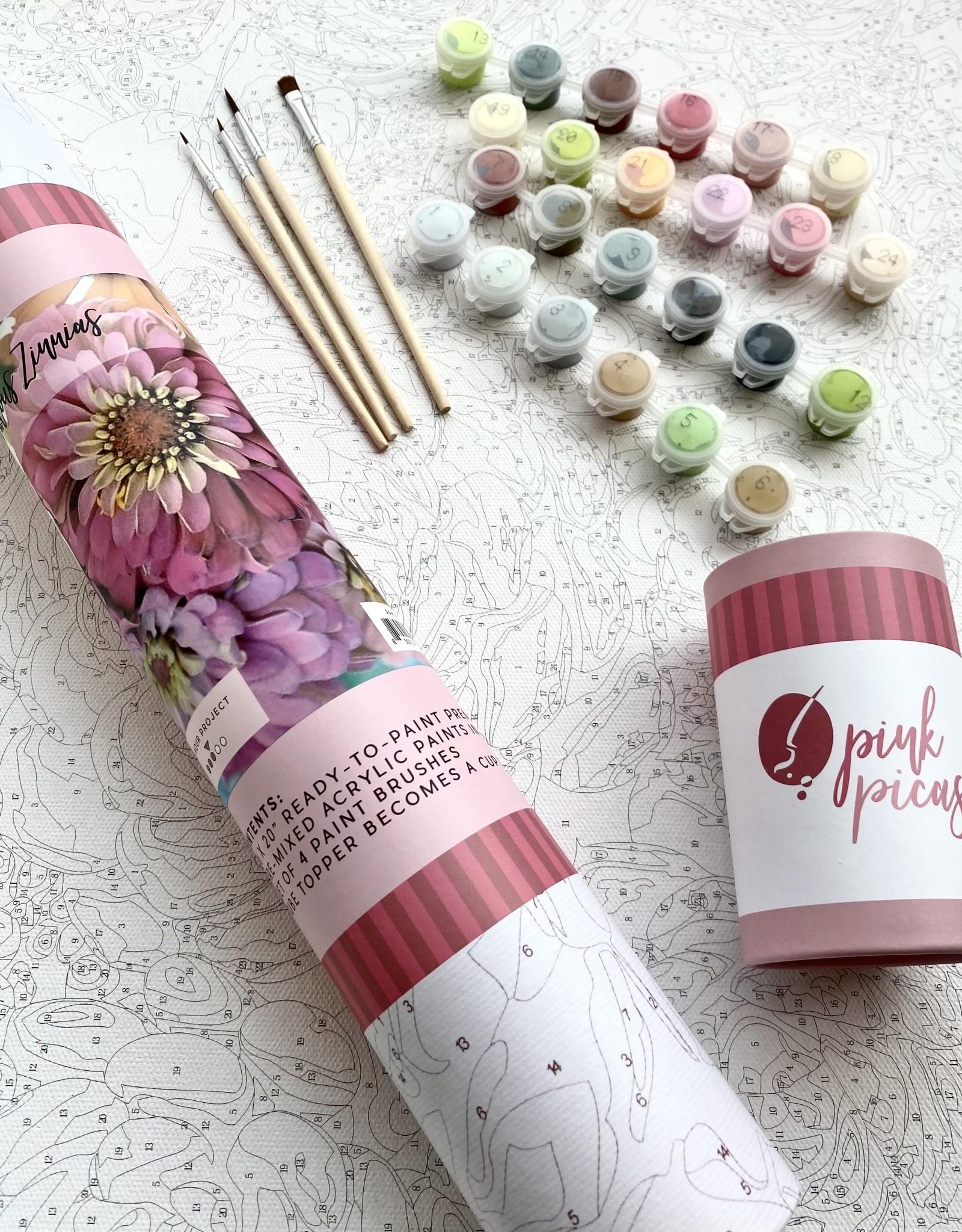 Pink Picasso Zealous Zinnias Paint Kit