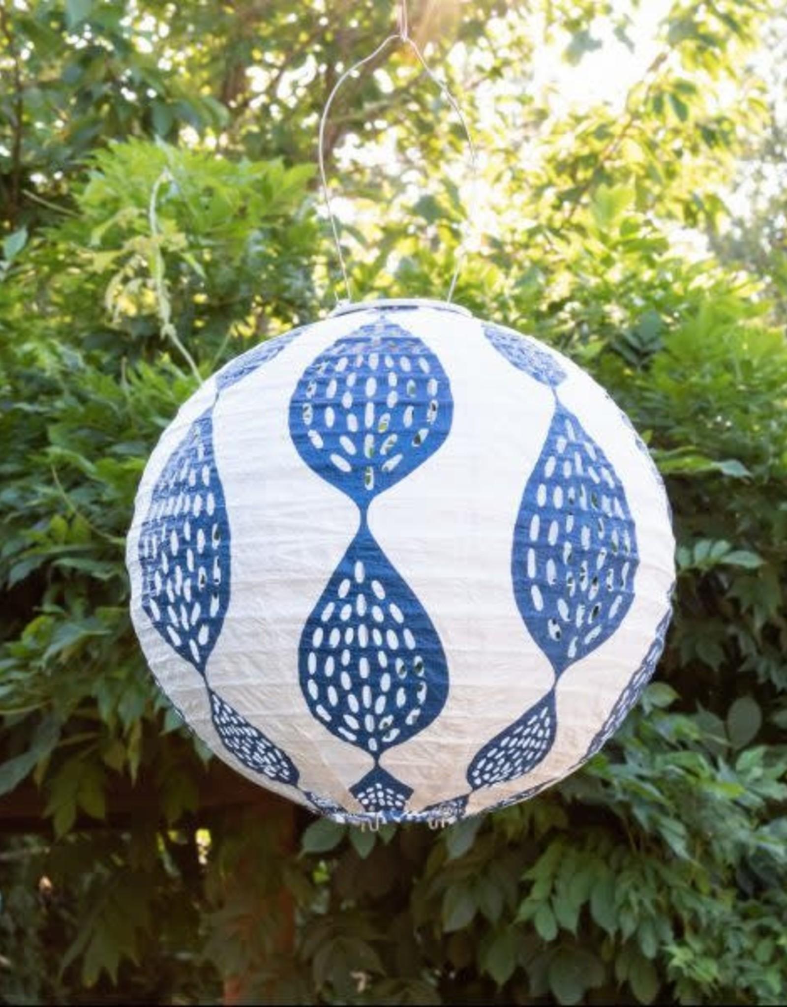 Allsop Stella Indigo Leaf Lantern